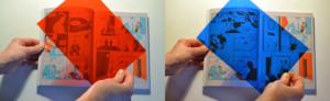 Image d'un atelier rouge et bleu